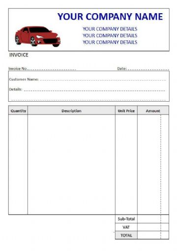 Mechanics NCR Invoice Pads & Sets, 4 Column + VAT Box